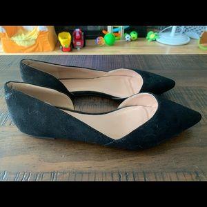 Journee JG pointed toe flats, black, size 10